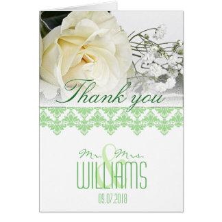 Grönt 2 för vår för kort för fotobrölloptack