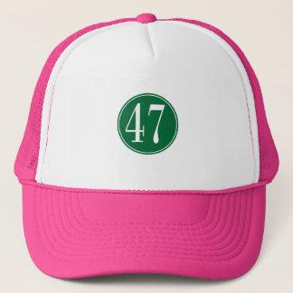 Grönt #47 cirklar truckerkeps