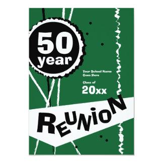 Grönt 50 år klassificerar möteinbjudan 12,7 x 17,8 cm inbjudningskort