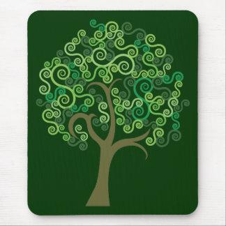Grönt abstrakt träd musmatta