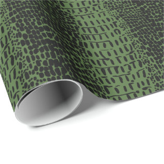 Grönt alligatorskinntryck presentpapper