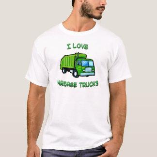 grönt älskar jag soporlastbilar t shirts