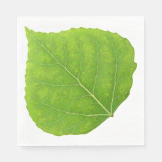 Grönt asp- löv #11 papper servetter