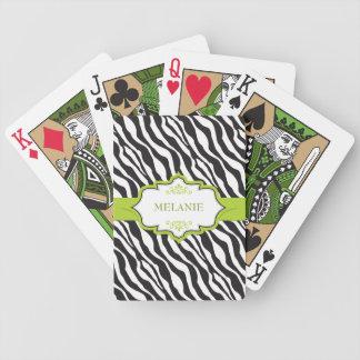 Grönt band för sebra spelkort