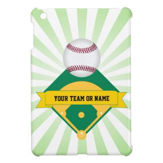 Grönt baseballfält med beställnings- lagnamn iPad mini skal