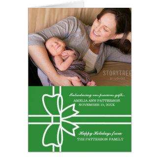 Grönt begåvat kort för helgdagfotohälsning
