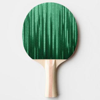 Grönt binärt regnar pingen Pong paddlar Pingisracket
