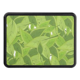 Grönt bladmönster skydd för dragkrok