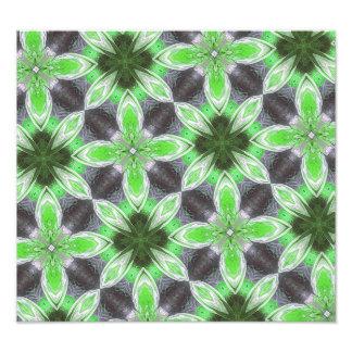 Grönt blommamönster konstfoto