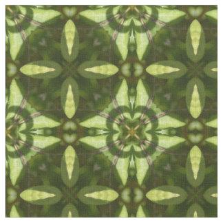 Grönt botaniskt geometriskt tyg för tryck 234-502