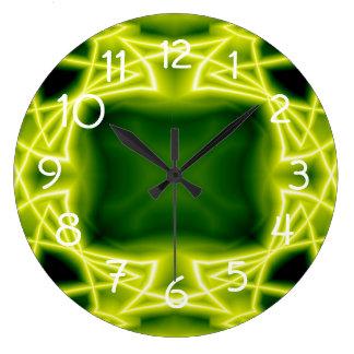 Grönt boxas stor klocka