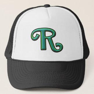 """Grönt brev """"R """", Truckerkeps"""
