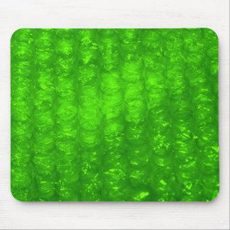 Grönt bubblar sjalen verkställer musmatta