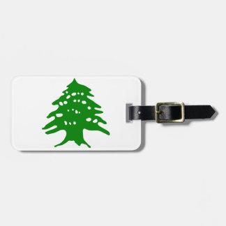 Grönt cederträ/Libanon cederträ Bagagebricka