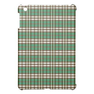 Grönt/chokladpläd Pern iPad Mini Mobil Skal