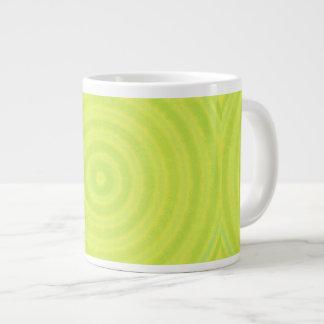 Grönt cirklar design jumbo mugg