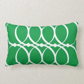 Grönt cirklar mönster kudder lumbarkudde