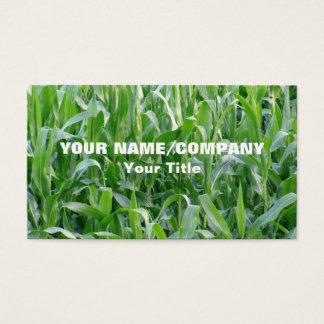 Grönt Cornfieldjordbruk Visitkort