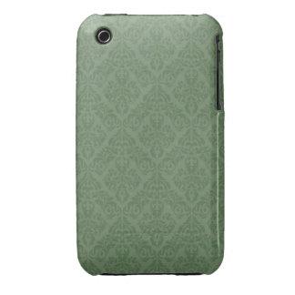 Grönt damastast designblackberry curvefodral Case-Mate iPhone 3 cases
