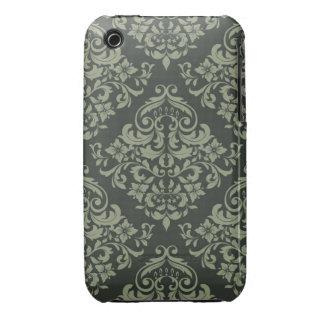 Grönt damastast designblackberry curvefodral iPhone 3 skydd
