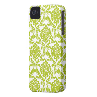 Grönt damastast mönster casemate fodral