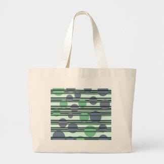 Grönt enkelt mönster jumbo tygkasse