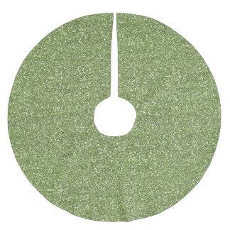Grönt Fauxglitter Julgransmatta Borstad Polyester