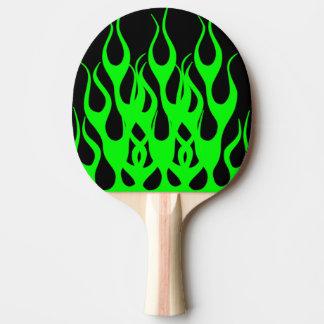 Grönt flammar diagram pingisracket