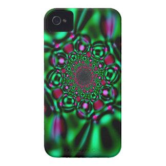 Grönt fodral för iPhone 4 för Fractalsmaragdlook iPhone 4 Case-Mate Fodral