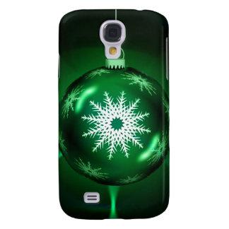 Grönt fodral för julSnowflakeSamsung galax s4 Galaxy S4 Fodral
