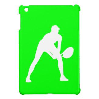 Grönt fodral för kortkort för tennisSilhouetteiPad iPad Mini Mobil Skydd