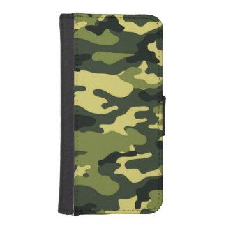 Grönt fodral för plånbok för kamouflageiPhone 5/5s
