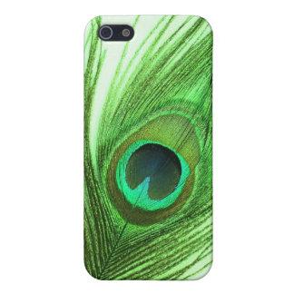 Grönt fodral för Speck för påfågelfjäderiPhone 4/4 iPhone 5 Fodral