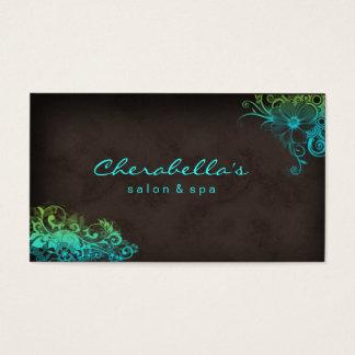 Grönt för 311 för skönhetsalong blom- blått för visitkort