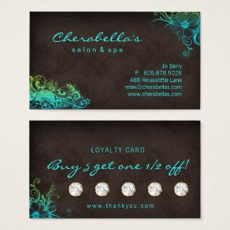 Grönt för blått för kort för lojalitet för