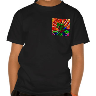 grönt för blomma för grönt för vildKAKTUSkaktus T Shirts