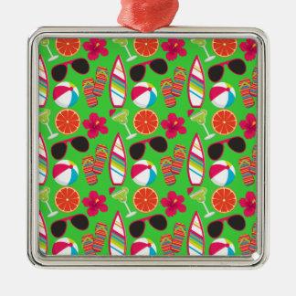 Grönt för boll för strand för solglasögon för julgransprydnad metall