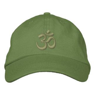 Grönt för den OM-YogaChakra kakien eller Broderad Keps