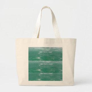 Grönt för djupt hav Vinka mönster Tote Bags