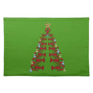 Grönt för jul för gulligt ställe för hummer bordstablett