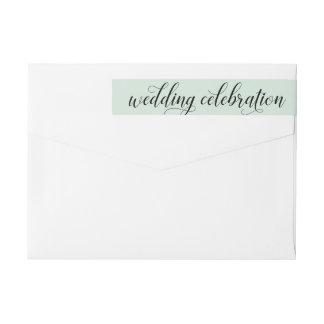 Grönt för Mint för bröllopfirande   Etikettband