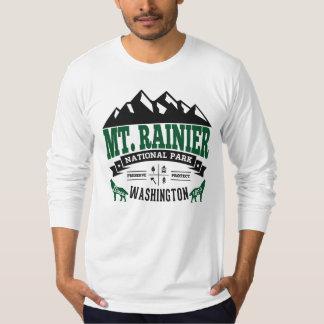 Grönt för Mount Rainier vintageskog T Shirt