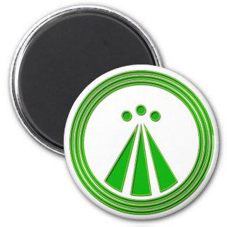 Grönt för OBOD-symbolneon Magnet