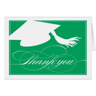 Grönt för studententackkort | hälsningskort