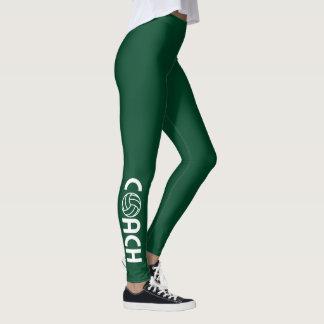 Grönt för tävla för volleybolllagledare brittisk leggings