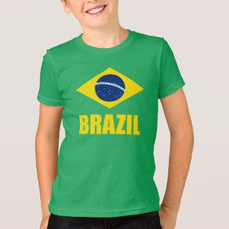 Grönt för text för Brasilien flaggagult T Shirt