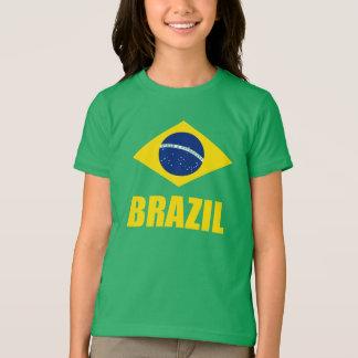 Grönt för text för Brasilien flaggagult Tröja