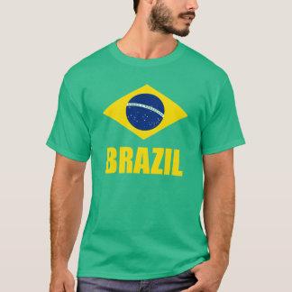 Grönt för text för Brasilien flaggagult Tröjor