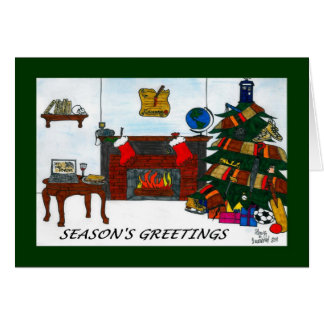 Grönt för TSSB-julaftonkort Hälsningskort