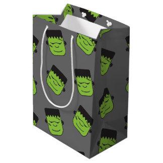 Grönt Frankenstein huvudmönster Halloween